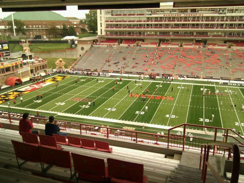 Seating view for Maryland Stadium Section 207 Row s Seat 25