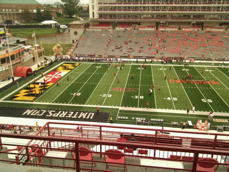 Seating view for Maryland Stadium Section 205 Row l Seat 6