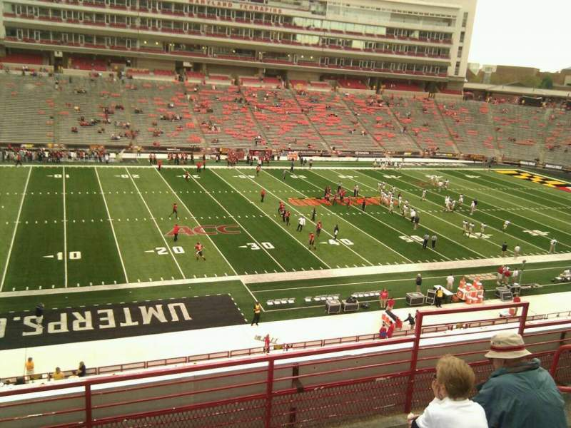 Seating view for Maryland Stadium Section 203 Row e Seat 18