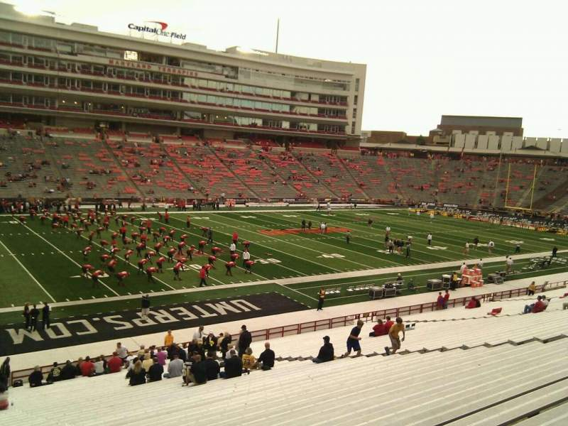 Seating view for Maryland Stadium Section 2 Row pp Seat 13