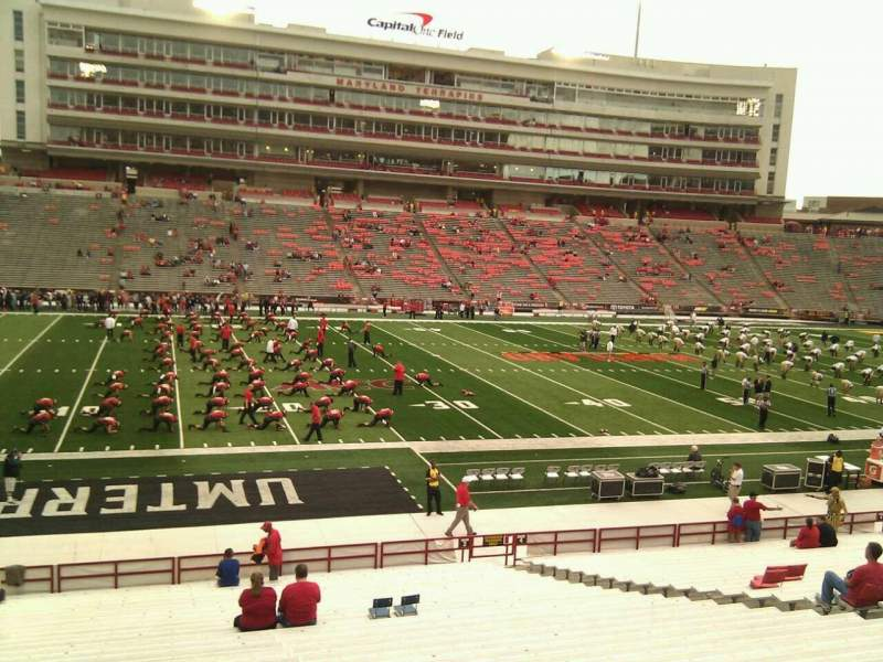 Seating view for Maryland Stadium Section 3 Row ff Seat 12
