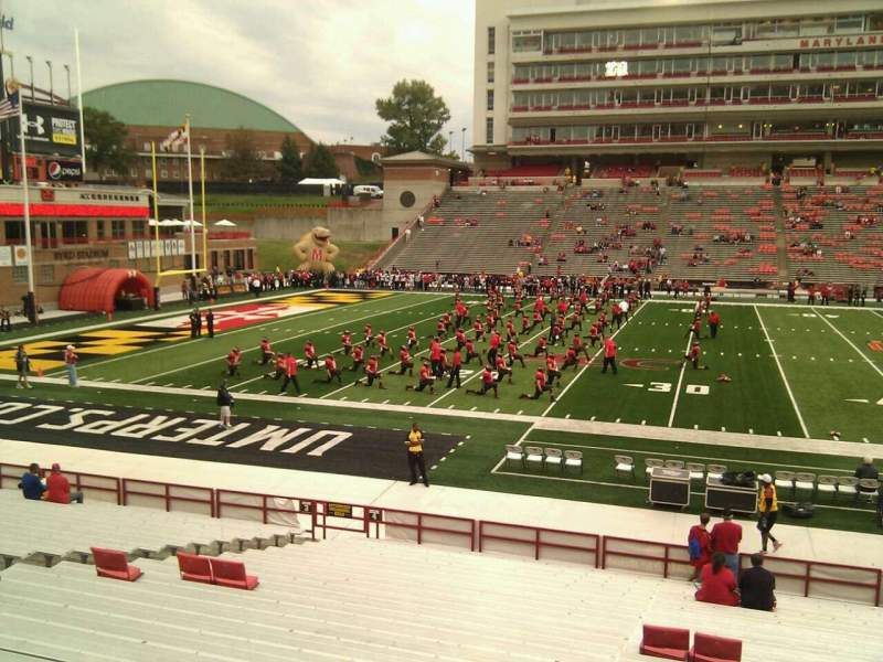 Seating view for Maryland Stadium Section 4 Row z Seat 15