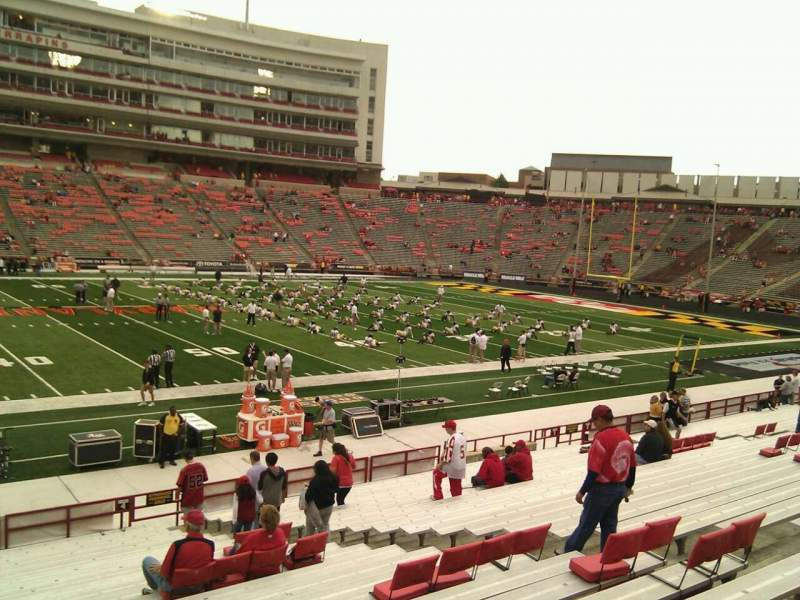 Seating view for Maryland Stadium Section 4 Row z Seat 17