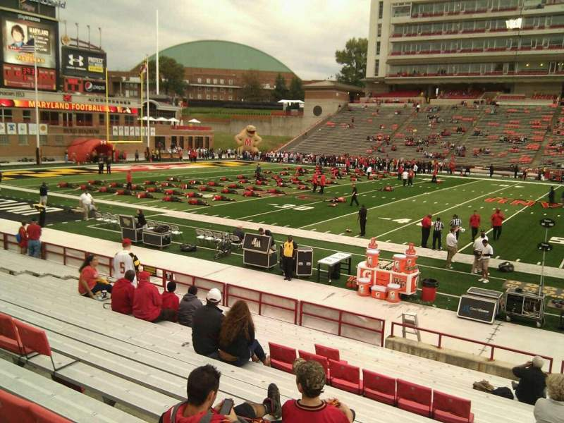 Seating view for Maryland Stadium Section 5 Row t Seat 29