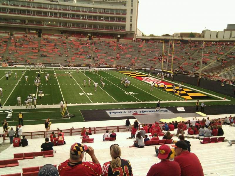 Seating view for Maryland Stadium Section 7 Row jj Seat 7