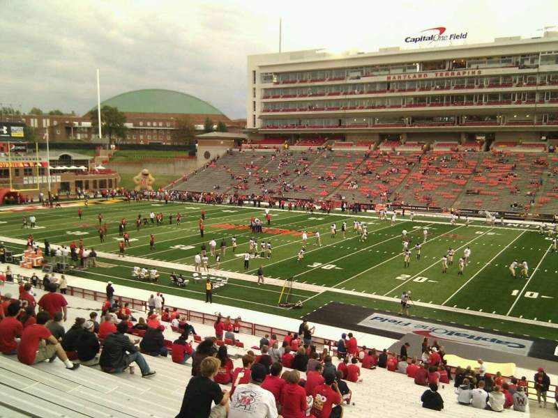 Seating view for Maryland Stadium Section 8 Row oo Seat 26