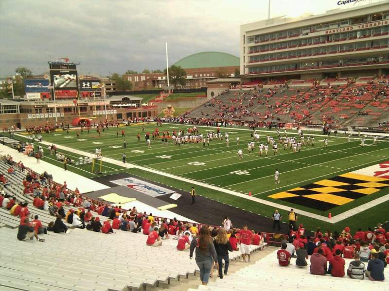 Seating view for Maryland Stadium Section 11 Row mm Seat 7