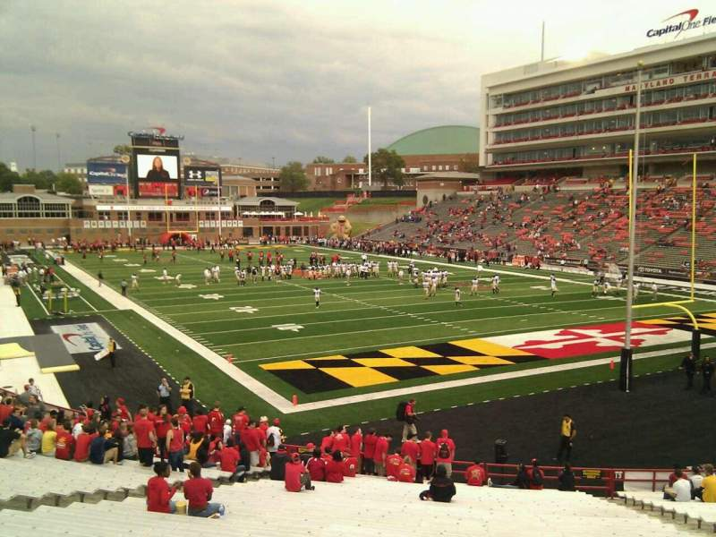 Seating view for Maryland Stadium Section 12 Row ff Seat 17