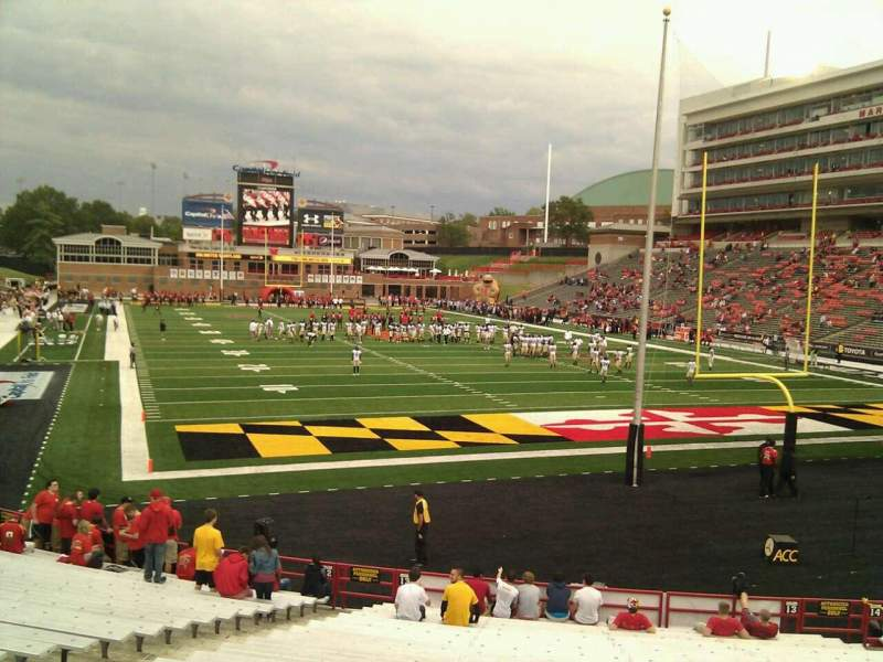 Seating view for Maryland Stadium Section 13 Row y Seat 9