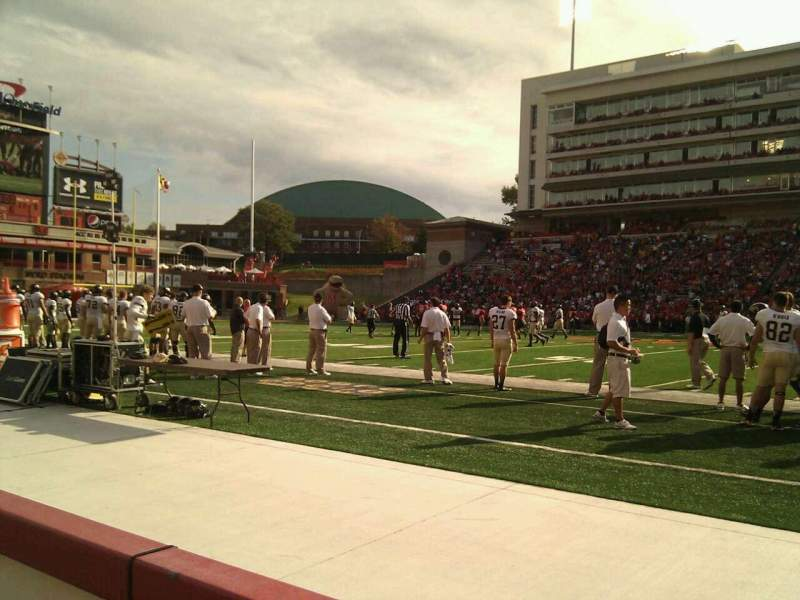 Seating view for Maryland Stadium Section 6 Row a Seat 16