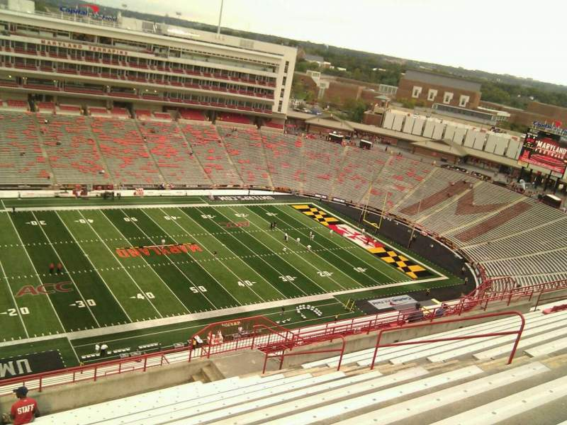Seating view for Maryland Stadium Section 303 Row u Seat 10