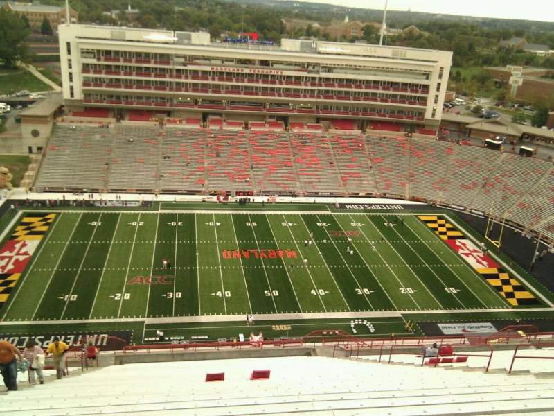 Seating view for Maryland Stadium Section 305 Row LL Seat 9