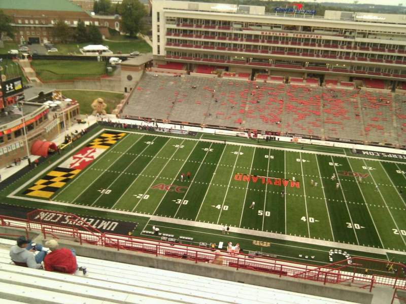 Seating view for Maryland Stadium Section 306 Row v Seat 17
