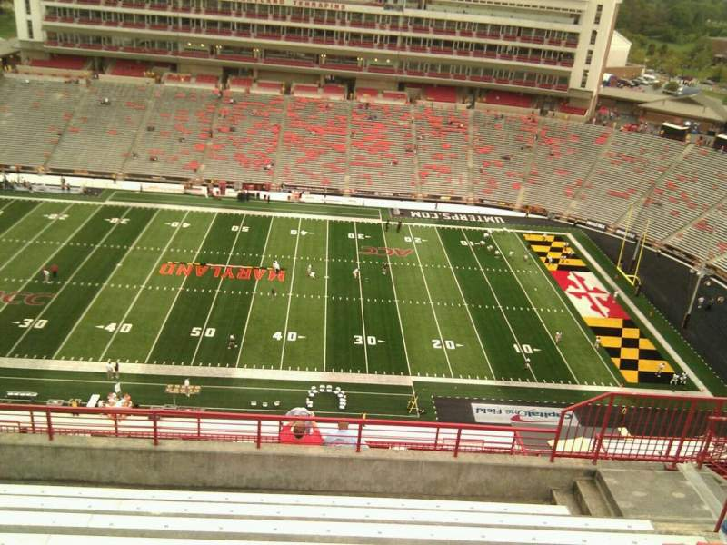 Seating view for Maryland Stadium Section 307 Row p Seat 17