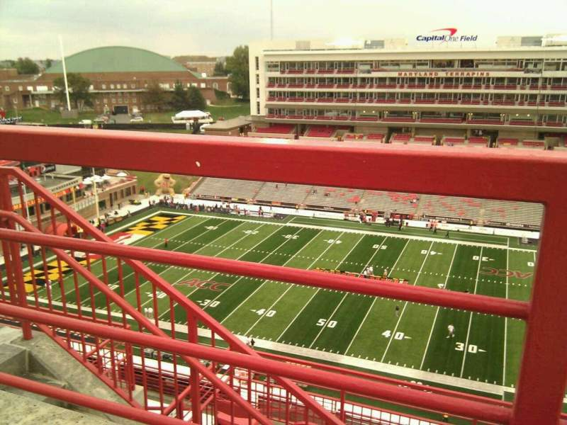 Seating view for Maryland Stadium Section 308 Row j Seat 7