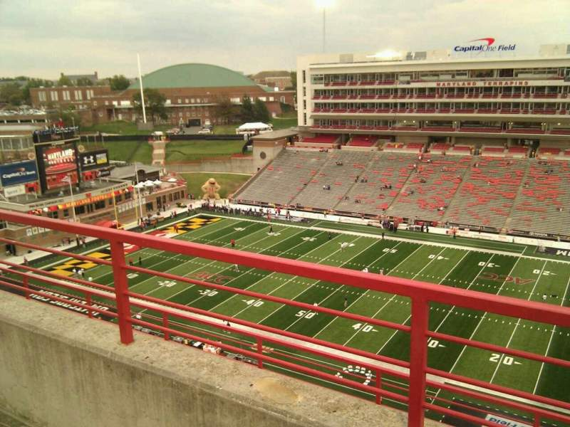 Seating view for Maryland Stadium Section 309 Row h Seat 19
