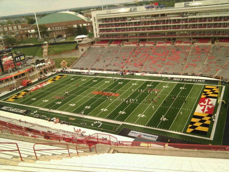 Seating view for Maryland Stadium Section 311 Row y Seat 14