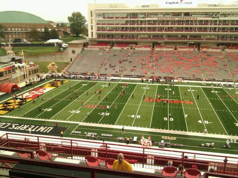 Seating view for Maryland Stadium Section 206 Row o Seat 14