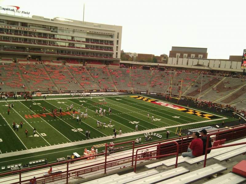 Seating view for Maryland Stadium Section 204 Row h Seat 15