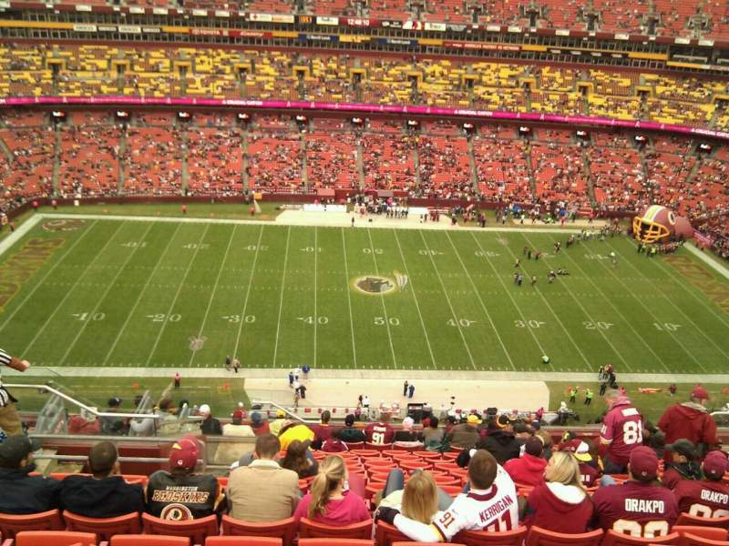 Seating view for FedEx Field Section 428 Row 16 Seat 20