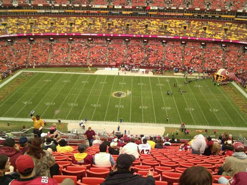 Seating view for FedEx Field Section 427 Row 21 Seat 18