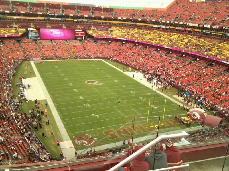 Seating view for FedEx Field Section 417 Row 6 Seat 7