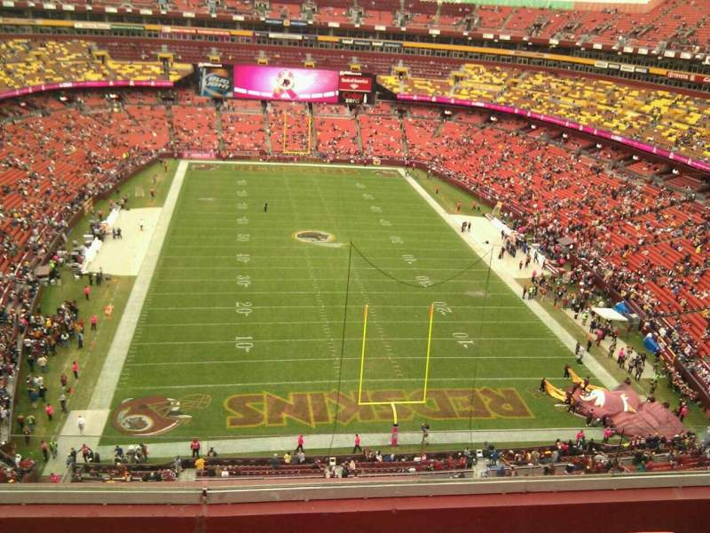 Seating view for FedEx Field Section 415 Row 5 Seat 12