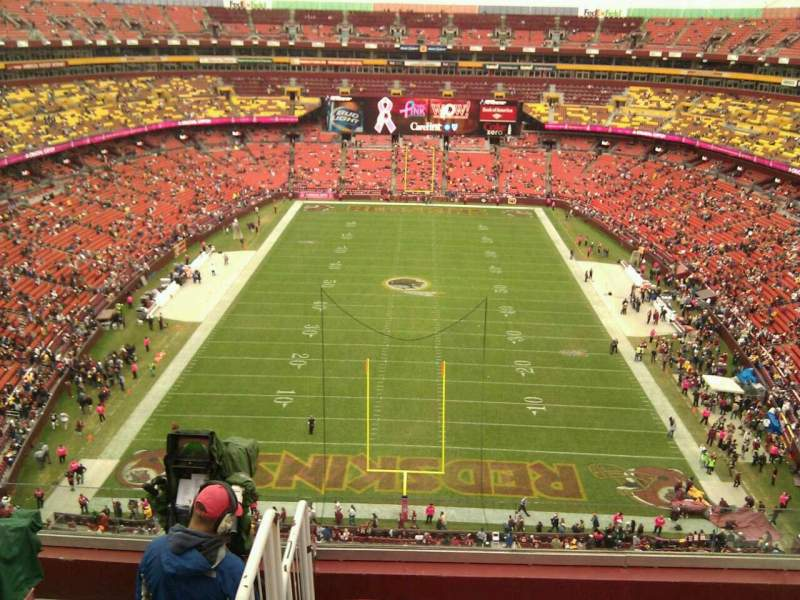 Seating view for FedEx Field Section 414 Row 6 Seat 11