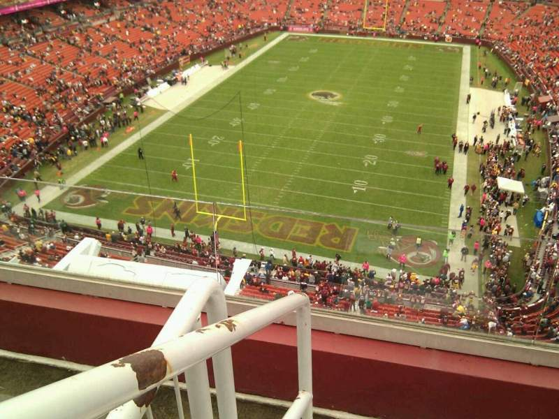 Seating view for FedEx Field Section 412 Row 3 Seat 20