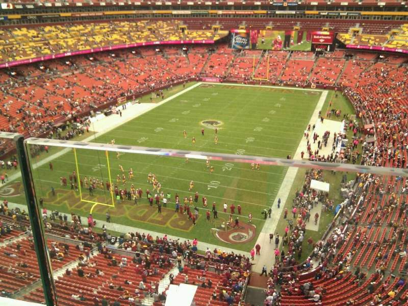 Seating view for FedEx Field Section 411 Row 1 Seat 34