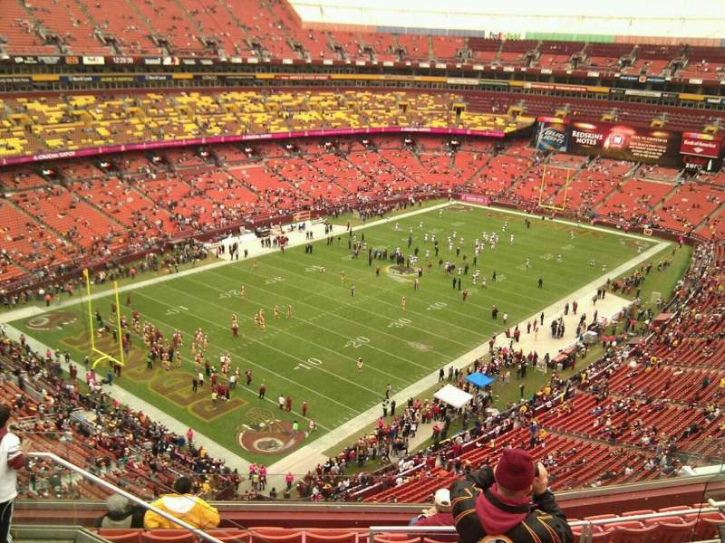 Seating view for FedEx Field Section 408 Row 9 Seat 15
