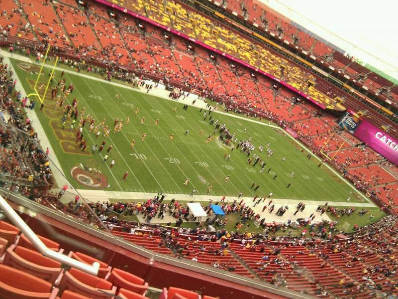 Seating view for FedEx Field Section 407 Row 6 Seat 11