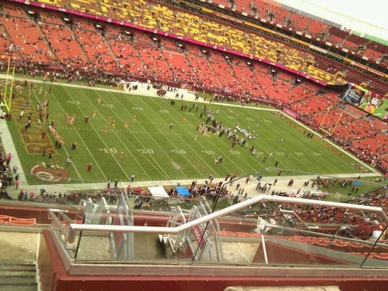 Seating view for FedEx Field Section 406 Row 10 Seat 4