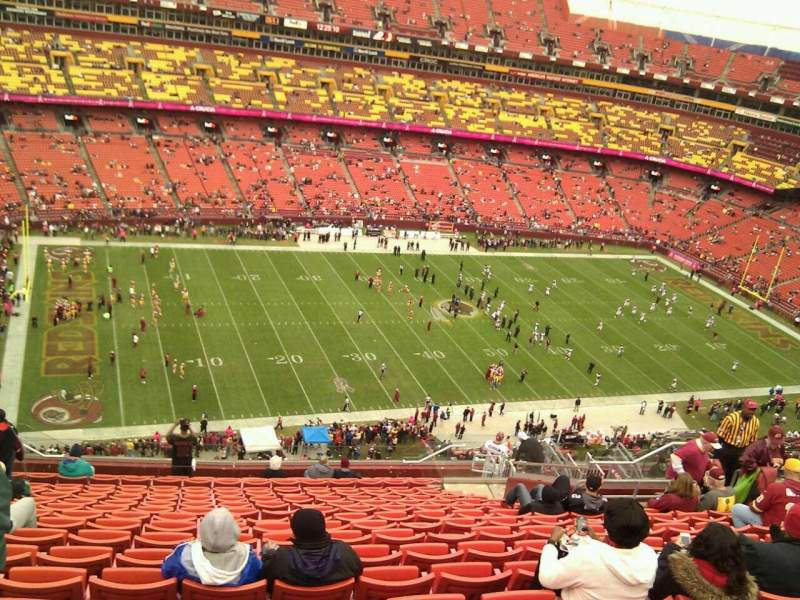 Seating view for FedEx Field Section 404 Row 18 Seat 15