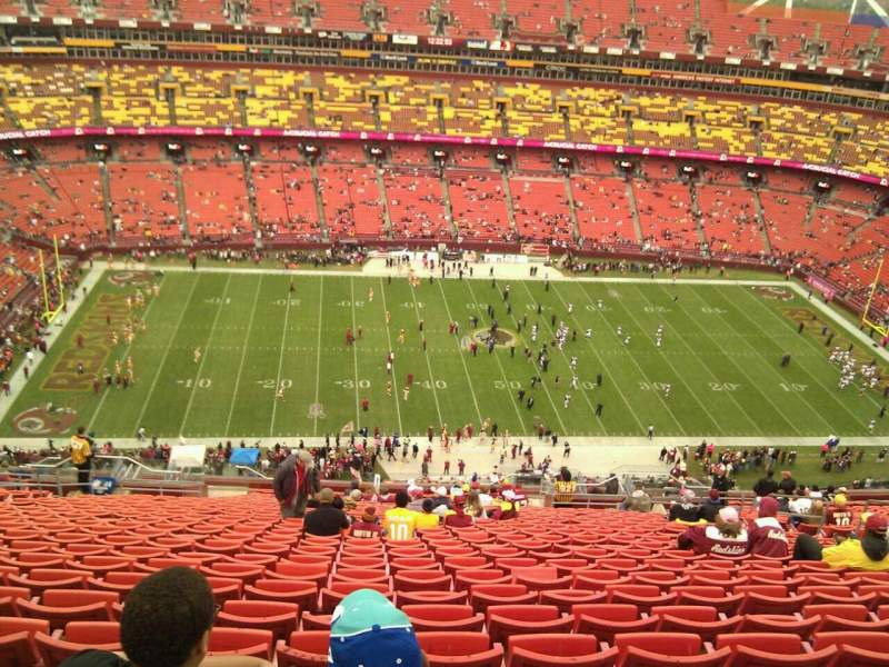Seating view for FedEx Field Section 402 Row 29 Seat 14