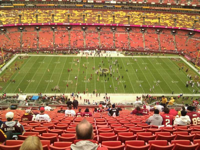 Seating view for FedEx Field Section 401 Row 25 Seat 13