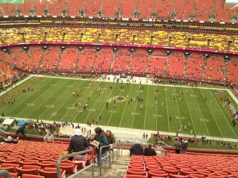 Seating view for FedEx Field Section 453 Row 22 Seat 26