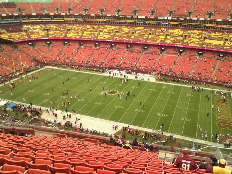 FedEx Field, section: 452, row: 19, seat: 5