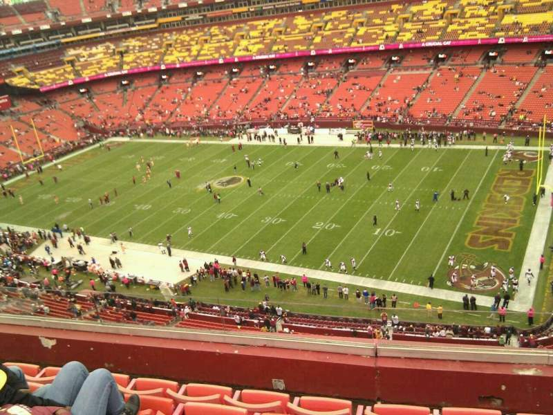 Seating view for FedEx Field Section 450 Row 5 Seat 11