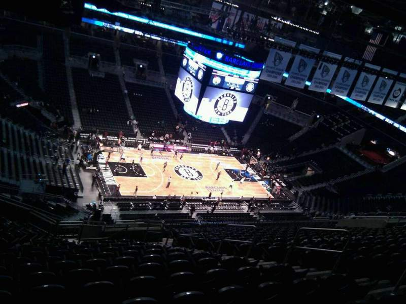 Seating view for Barclays Center Section 227 Row 18 Seat 9
