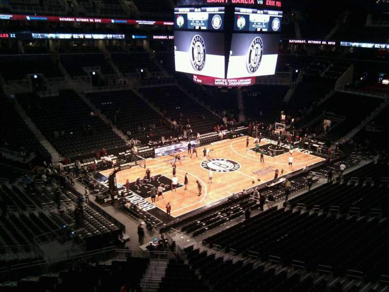 Seating view for Barclays Center Section 228 Row 3 Seat 14