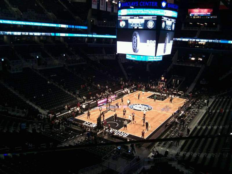 Seating view for Barclays Center Section 229 Row 1 Seat 20