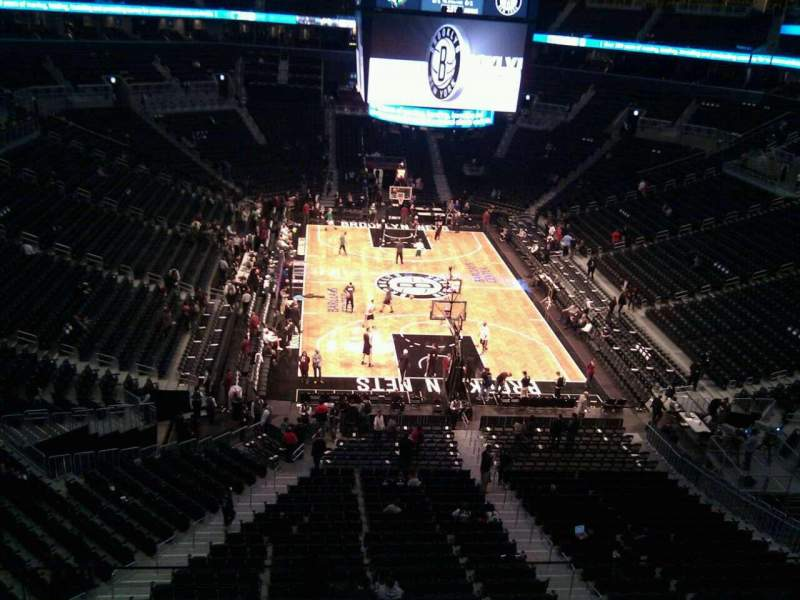 Seating view for Barclays Center Section 201 Row 3 Seat 14