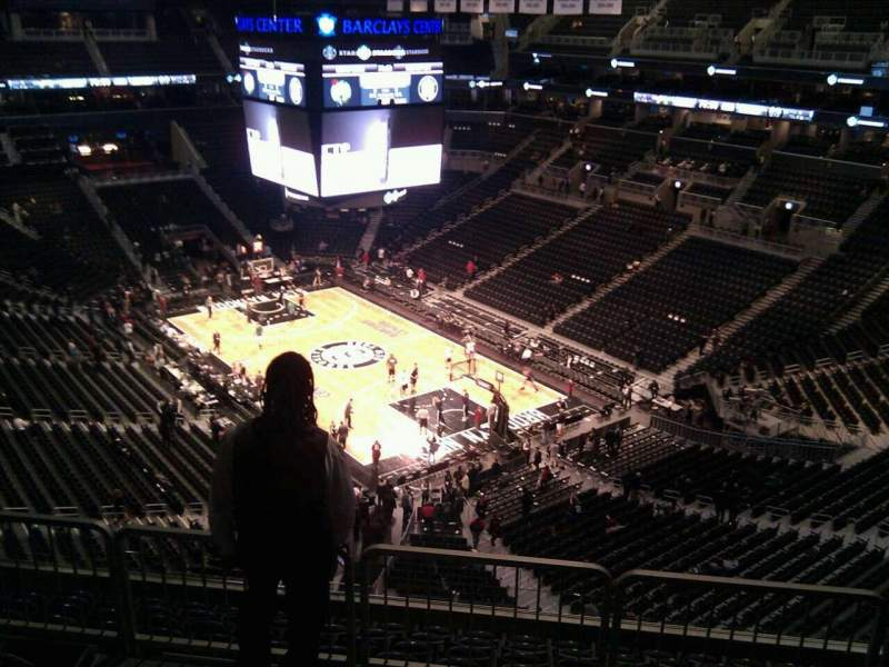 Seating view for Barclays Center Section 203 Row 11 Seat 6