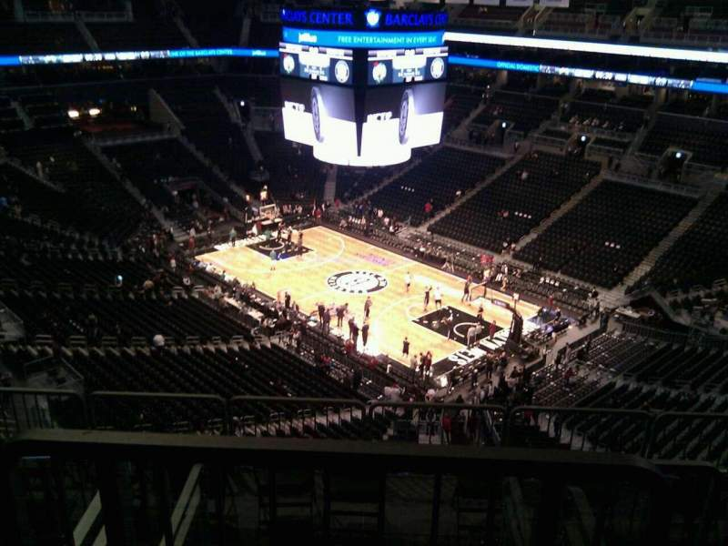 Seating view for Barclays Center Section 204 Row 13 Seat 12