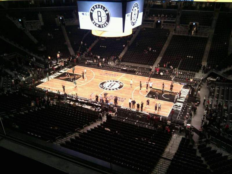 Seating view for Barclays Center Section 206 Row 2 Seat 16