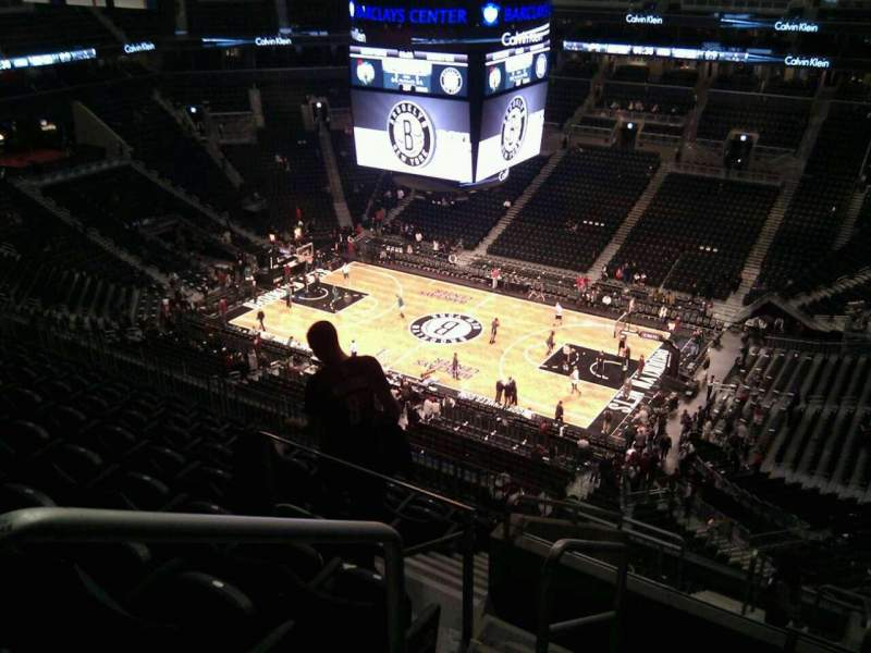 Seating view for Barclays Center Section 205 Row 11 Seat 18