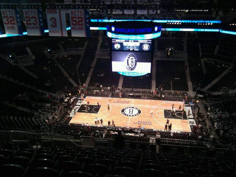 Seating view for Barclays Center Section 207 Row 17 Seat 19