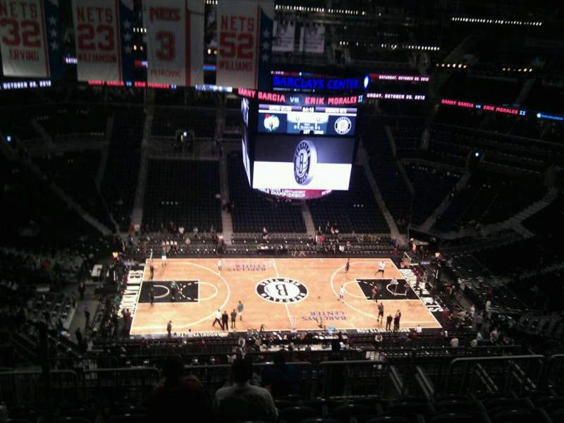 Seating view for Barclays Center Section 209 Row 23 Seat 18