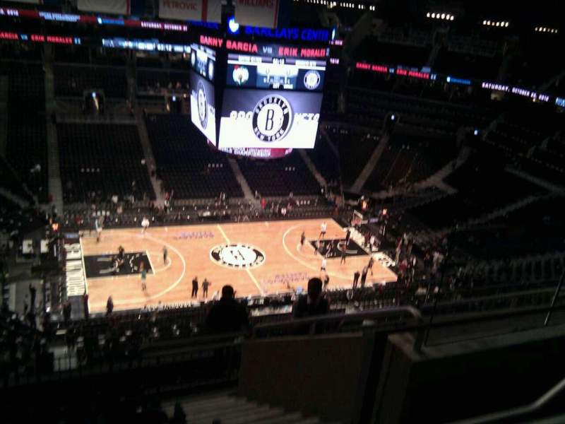 Seating view for Barclays Center Section 210 Row 9 Seat 5